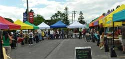 Manistique Farmers Market booths